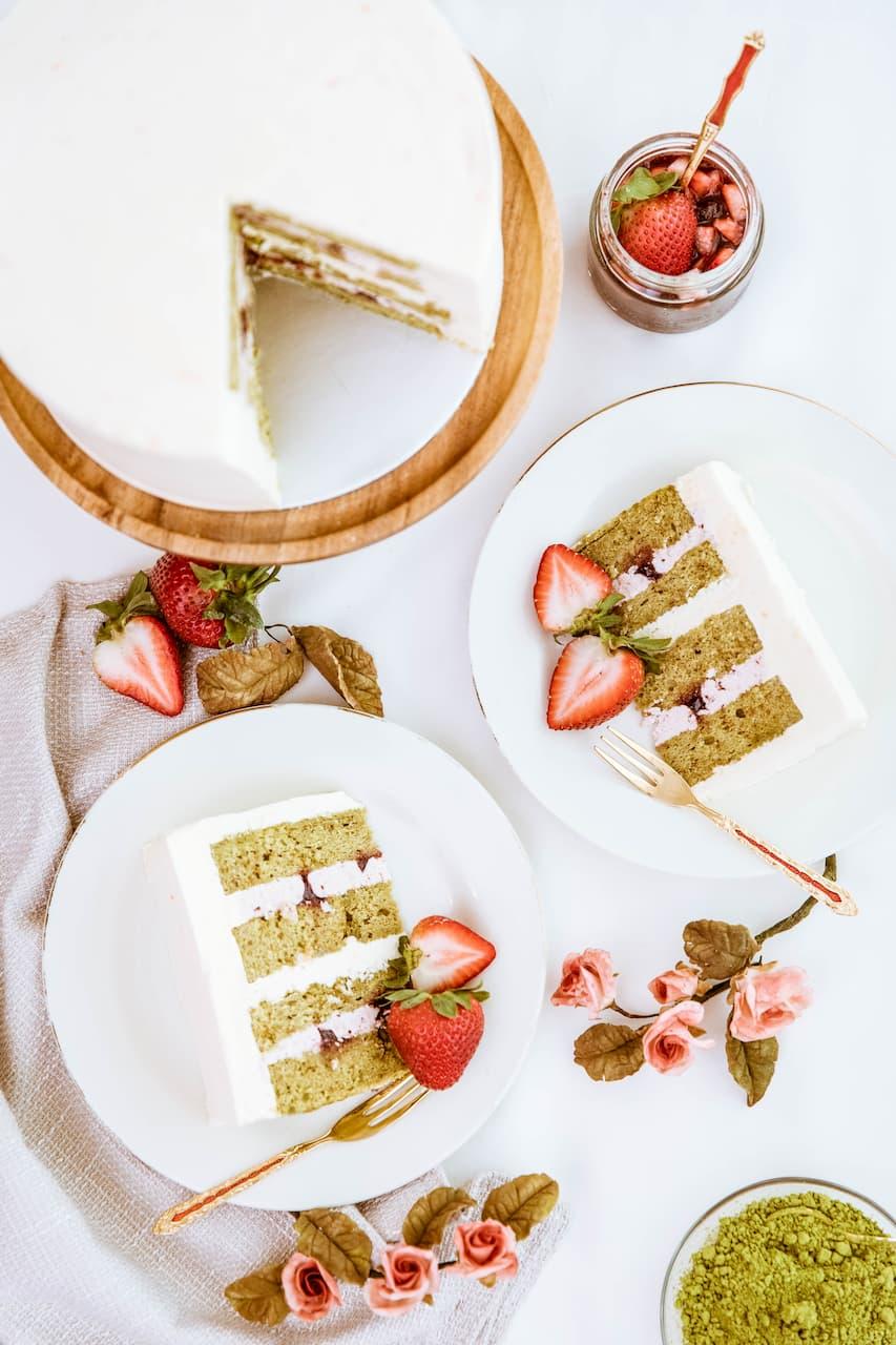 Roseraé Cakes Matcha Strawberry Yuzu